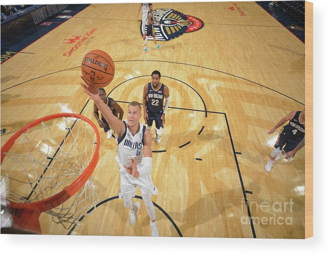 Smoothie King Center Wood Print featuring the photograph Dallas Mavericks V New Orleans Pelicans by Jesse D. Garrabrant