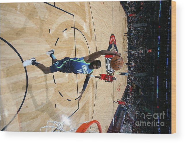 Tim Hardaway Jr. Wood Print featuring the photograph Dallas Mavericks V New Orleans Pelicans by Layne Murdoch Jr.