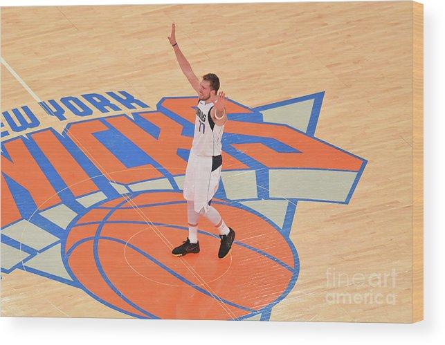 Nba Pro Basketball Wood Print featuring the photograph Dallas Mavericks V New York Knicks by Jesse D. Garrabrant