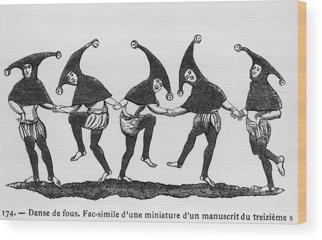 Performance Wood Print featuring the photograph Dance Of The Fools by Hulton Archive