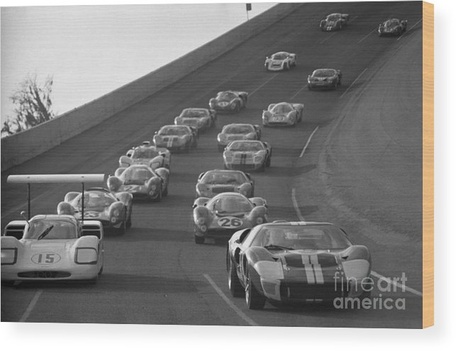 Chaparral Wood Print featuring the photograph Daytona 24 Hour Endurance Auto Race by Bettmann