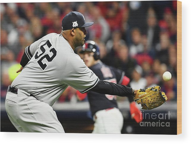Three Quarter Length Wood Print featuring the photograph Divisional Round - New York Yankees V by Jason Miller