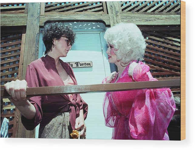 Music Wood Print featuring the photograph Dolly Parton And Linda Ronstadt by Richard Mccaffrey