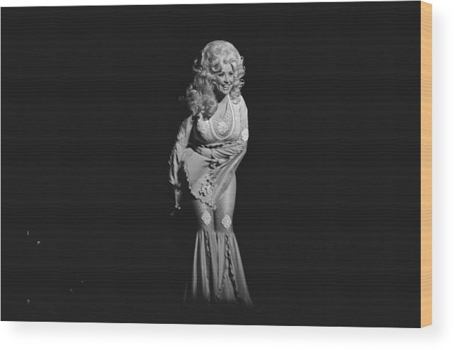 Music Wood Print featuring the photograph Dolly Parton Performs Live by Richard Mccaffrey