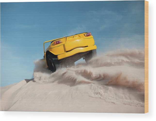 Dust Wood Print featuring the photograph Driving On Sand, Jericoacoara, Brazil by Tunart