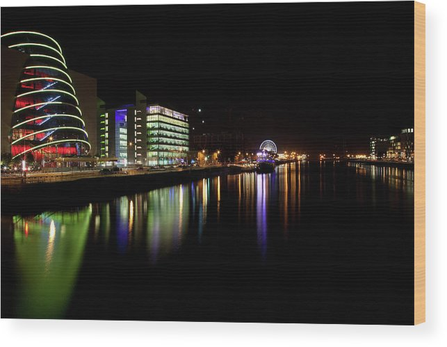 Dublin Wood Print featuring the photograph Dublin City Along Quays by Image By Daniel King