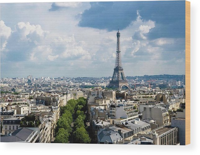 Eiffel Tower Wood Print featuring the photograph Eiffel Tower View From Arc De Triomphe by Keith Sherwood