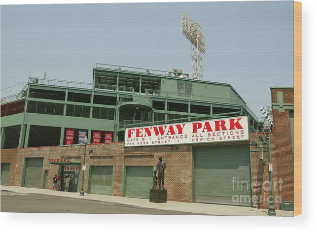 American League Baseball Wood Print featuring the photograph Fenway Park by Getty Images