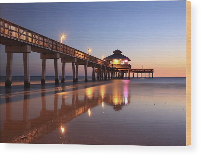Built Structure Wood Print featuring the photograph Fort Myers Beach, Florida by Jumper