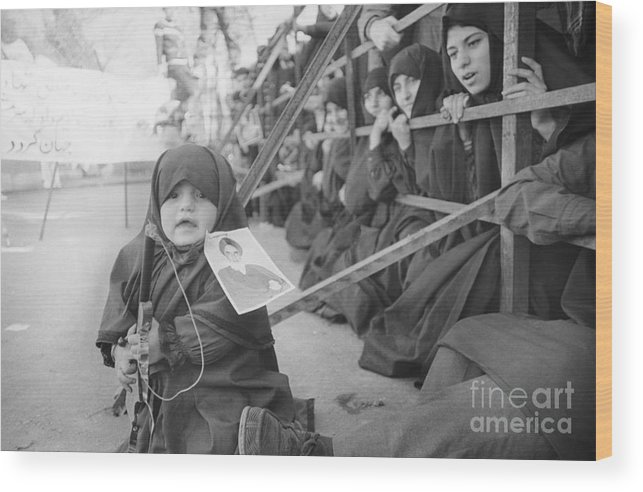 Child Wood Print featuring the photograph Girl With Toy Gun by Bettmann