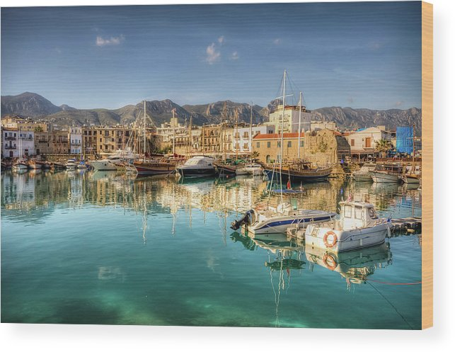 Tranquility Wood Print featuring the photograph Girne Kyrenia , North Cyprus by Nejdetduzen