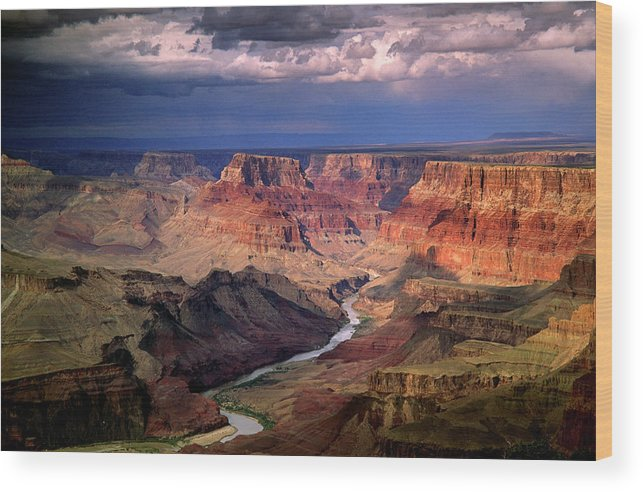 Scenics Wood Print featuring the photograph Grand Canyon, Arizon, Usa by Michael Busselle
