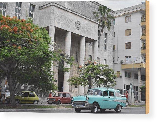 Havana Wood Print featuring the photograph Havana by Cassidy Marshall