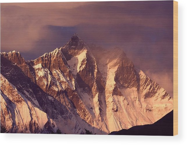 Scenics Wood Print featuring the photograph Himalayas At Sunset by Pal Teravagimov Photography
