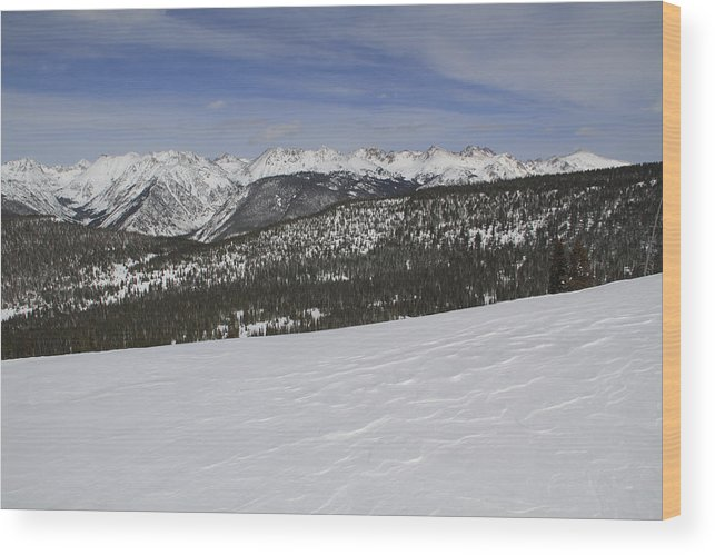Scenics Wood Print featuring the photograph Holy Cross Wilderness Area In Winter by John Kieffer