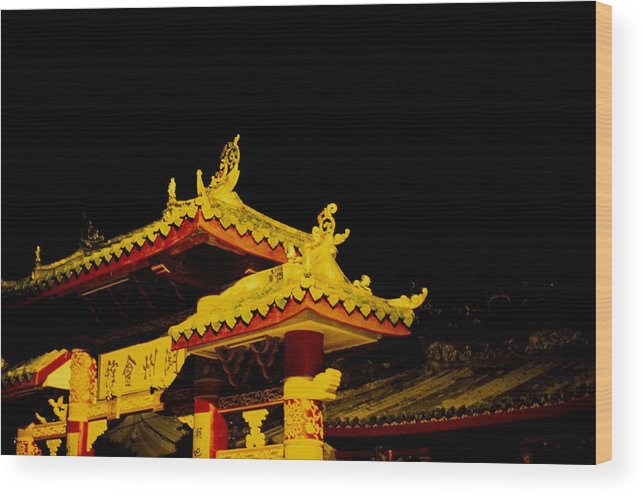 Ancient Wood Print featuring the photograph House Of Clan In Hoi An, Vietnam - by Veronique Durruty