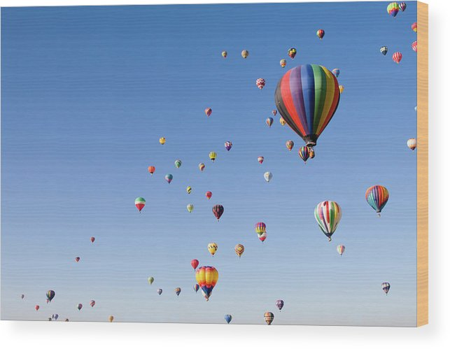 Event Wood Print featuring the photograph International Balloon Fiesta by Prmoeller