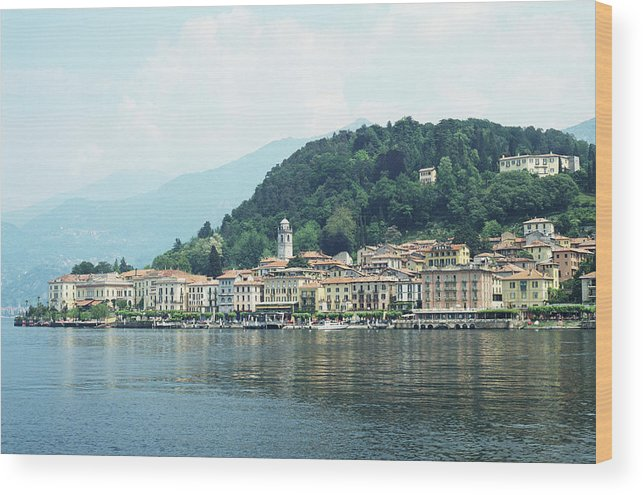 Outdoors Wood Print featuring the photograph Italy, Lombardy, Bellagio On Lake Como by Andy Sotiriou