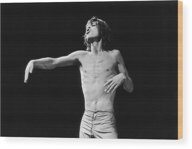 Mick Jagger Wood Print featuring the photograph Jagger Gestures by Graham Wood