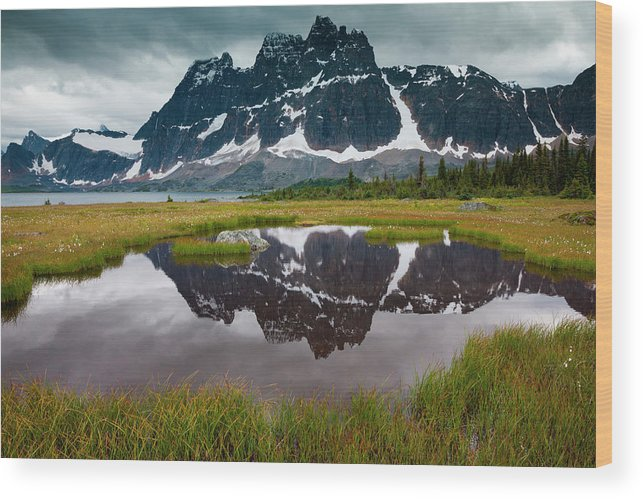 Unesco Wood Print featuring the photograph Jasper National Park, Alberta, Canada by Mint Images/ Art Wolfe