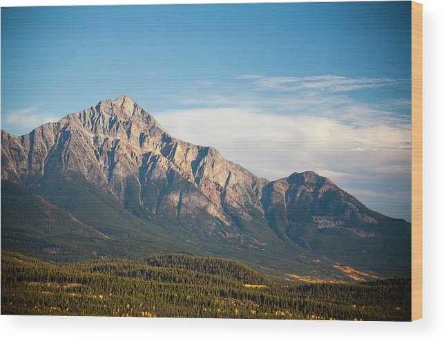 Scenics Wood Print featuring the photograph Jasper Valley by Abishome