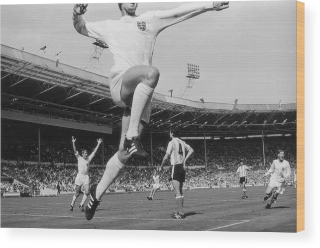 International Match Wood Print featuring the photograph Jumping Geoff by Central Press