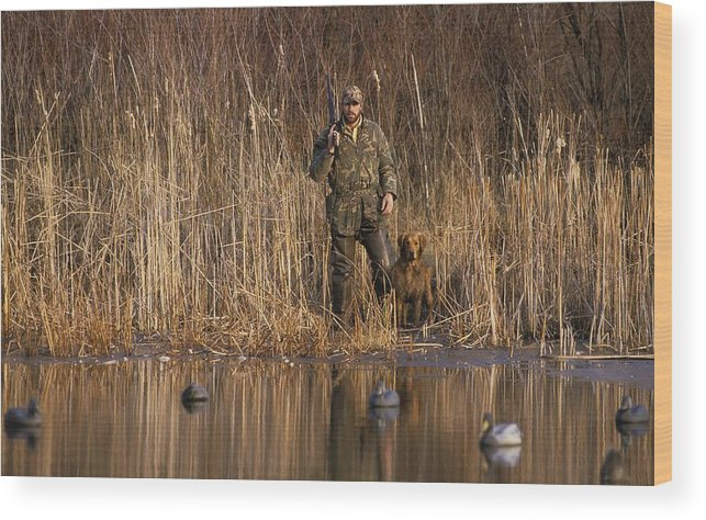 1980-1989 Wood Print featuring the photograph Kirk Gibson Goes Duck Hunting by Ronald C. Modra/sports Imagery