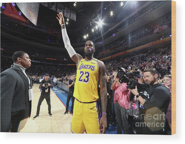 Thank You Wood Print featuring the photograph Kobe Bryant And Lebron James by Nathaniel S. Butler