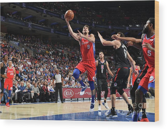 Nba Pro Basketball Wood Print featuring the photograph La Clippers V Philadelphia 76ers by Jesse D. Garrabrant