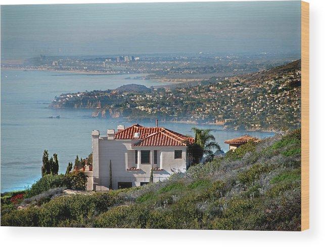 Laguna Beach Wood Print featuring the photograph Laguna Beach Hilltop Homes by Mitch Diamond