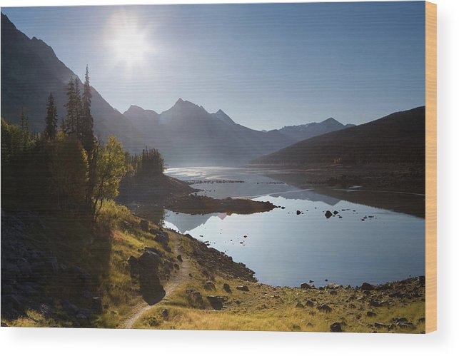Clear Sky Wood Print featuring the photograph Lake Maligne - Jasper National Park by Ingmar Wesemann