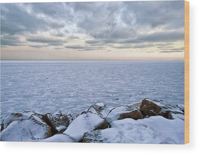 Tranquility Wood Print featuring the photograph Lake Michigan by By Ken Ilio
