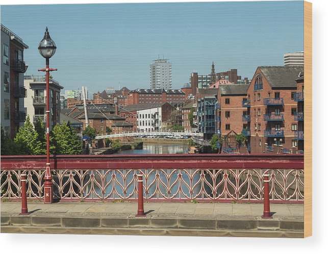 English Culture Wood Print featuring the photograph Leeds Waterfront Developments by P A Thompson