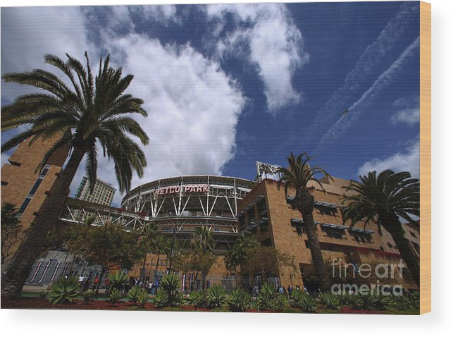 California Wood Print featuring the photograph Los Angeles Dodgers V San Diego Padres by Donald Miralle