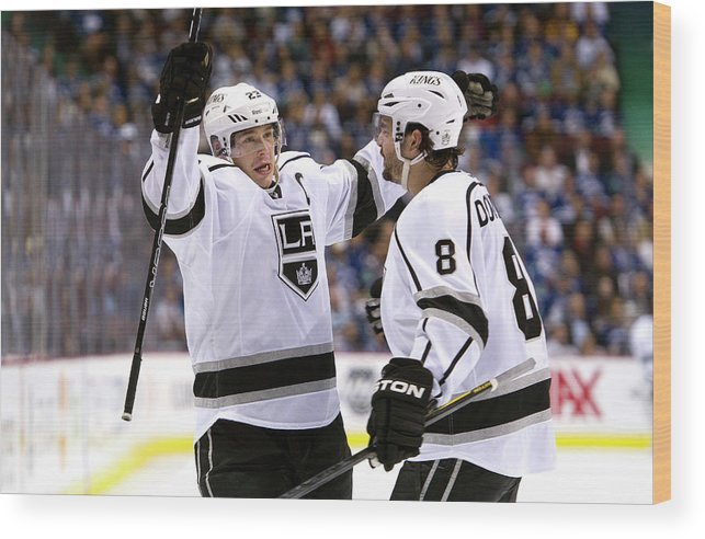 Playoffs Wood Print featuring the photograph Los Angeles Kings V Vancouver Canucks - by Rich Lam