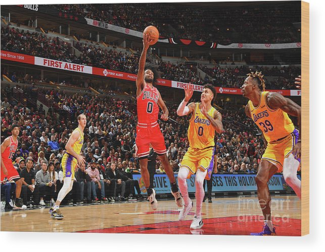 Coby White Wood Print featuring the photograph Los Angeles Lakers V Chicago Bulls by Jesse D. Garrabrant