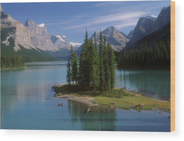 Tranquility Wood Print featuring the photograph Maligne Lake, Jasper National Park by Design Pics/bilderbuch