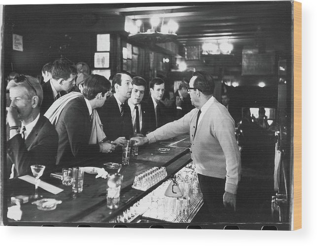 Sweater Wood Print featuring the photograph Mattachine Society Sip-in, 1966 by Fred W. McDarrah