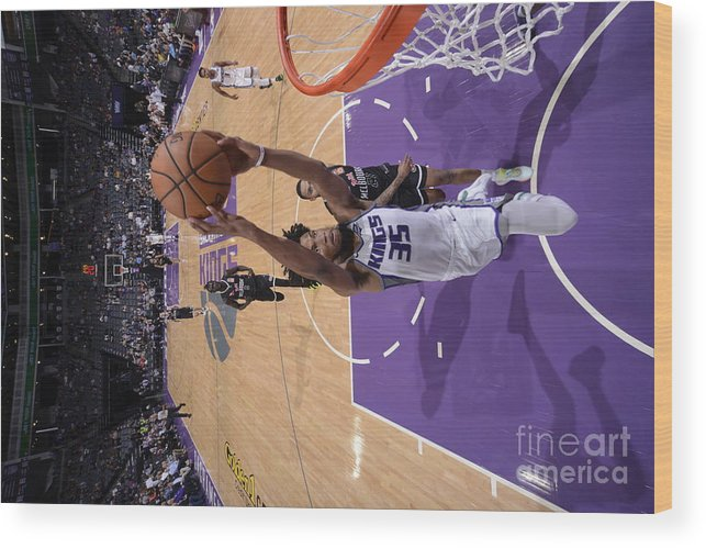 Nba Pro Basketball Wood Print featuring the photograph Melbourne United V Sacramento Kings by Rocky Widner