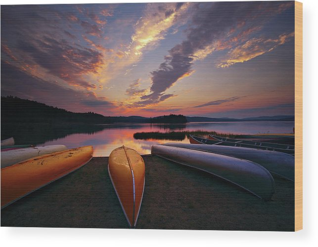 Tranquility Wood Print featuring the photograph Morning At Lake Of The Two Rivers by Henry@scenicfoto.com