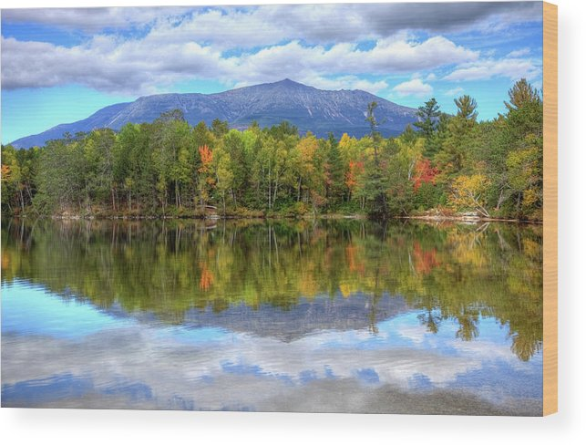 Scenics Wood Print featuring the photograph Mount Katahdin by Denistangneyjr