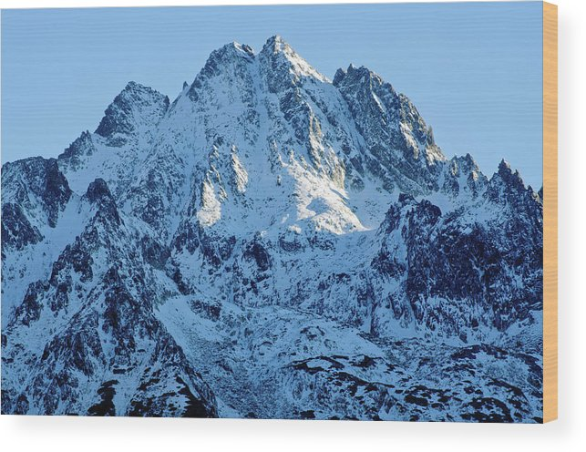 Scenics Wood Print featuring the photograph Mountain by Yorkfoto
