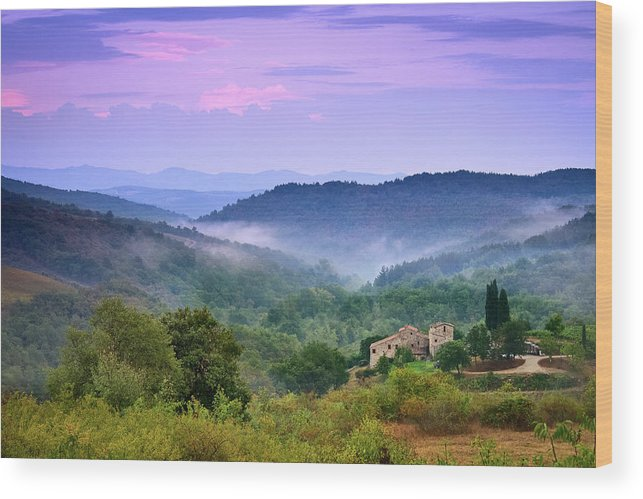 Scenics Wood Print featuring the photograph Mountains by Christian Wilt