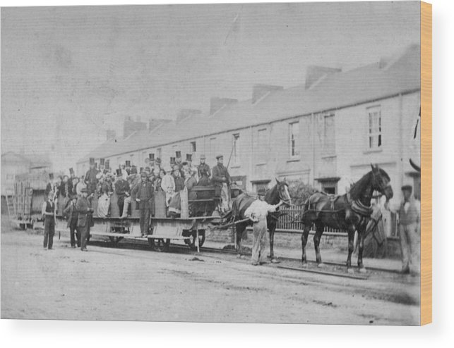 Horse Wood Print featuring the photograph Mumbles Train by Hulton Archive