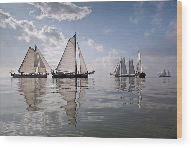 North Holland Wood Print featuring the photograph Netherlands, Race Of Traditional by Frans Lemmens