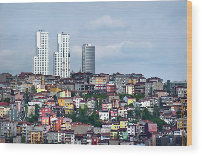 Istanbul Wood Print featuring the photograph New Istanbul by Alain Bachellier