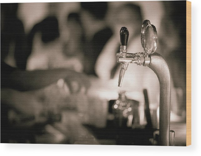 Alcohol Wood Print featuring the photograph Nightlife by Instants