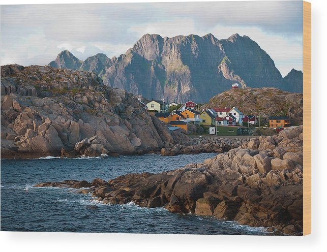 Tranquility Wood Print featuring the photograph Norway by Brigitte Hermans
