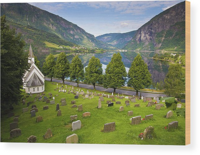 Tranquility Wood Print featuring the photograph Norway by Manuel Romaris