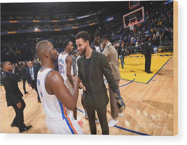 Nba Pro Basketball Wood Print featuring the photograph Oklahoma City Thunder V Golden State by Noah Graham
